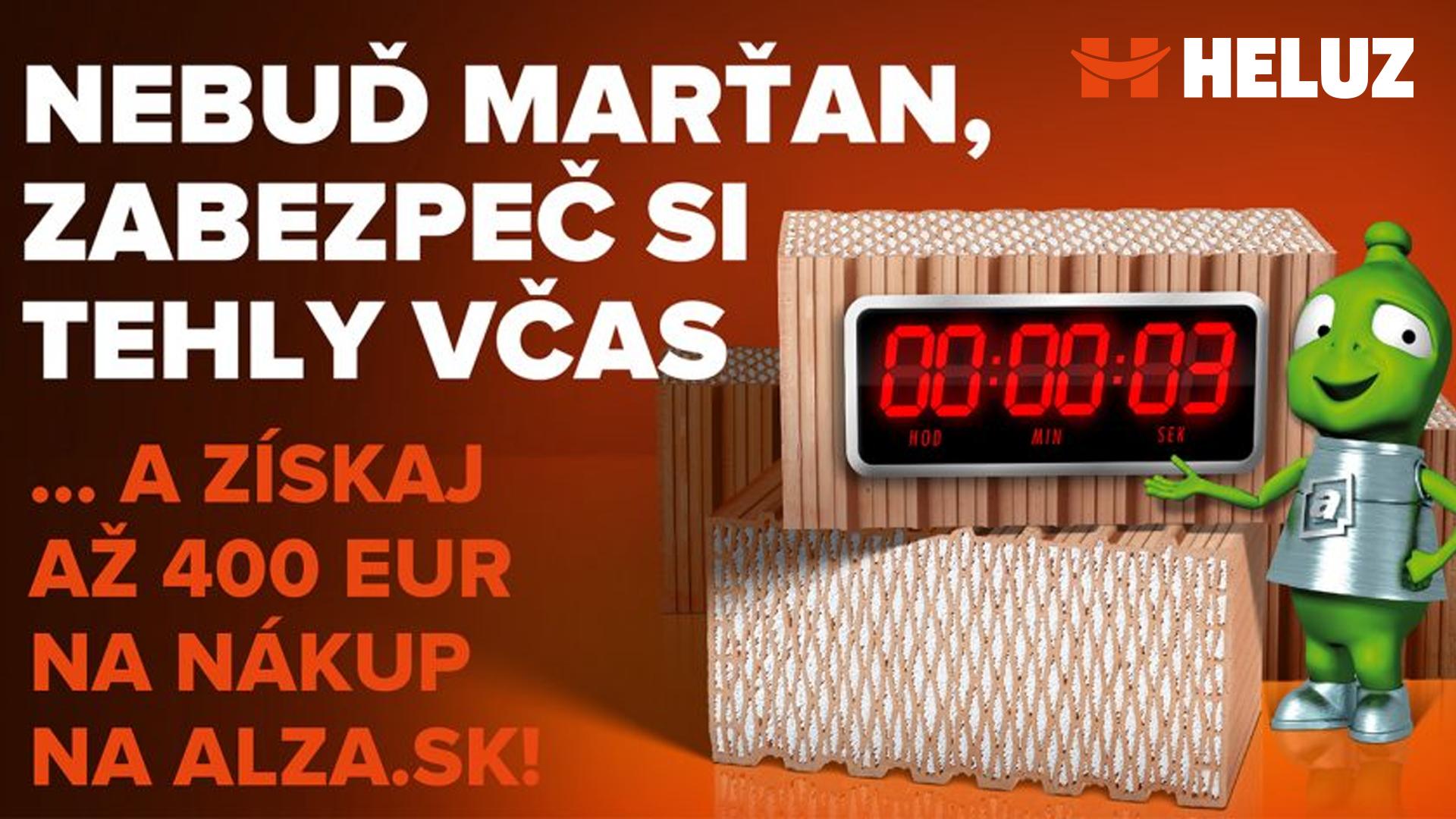 K tehlám Heluz naviac poukaz na nákup na Alza.sk