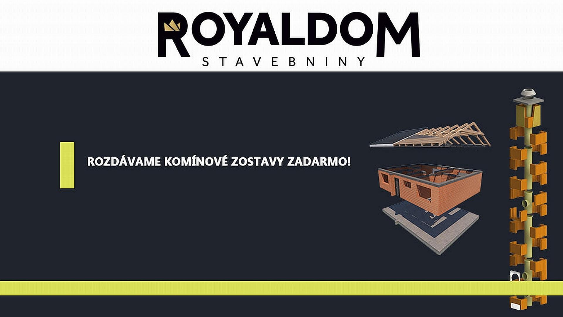 Stavebniny Royaldom rozdávajú komínové zostavy zadarmo!