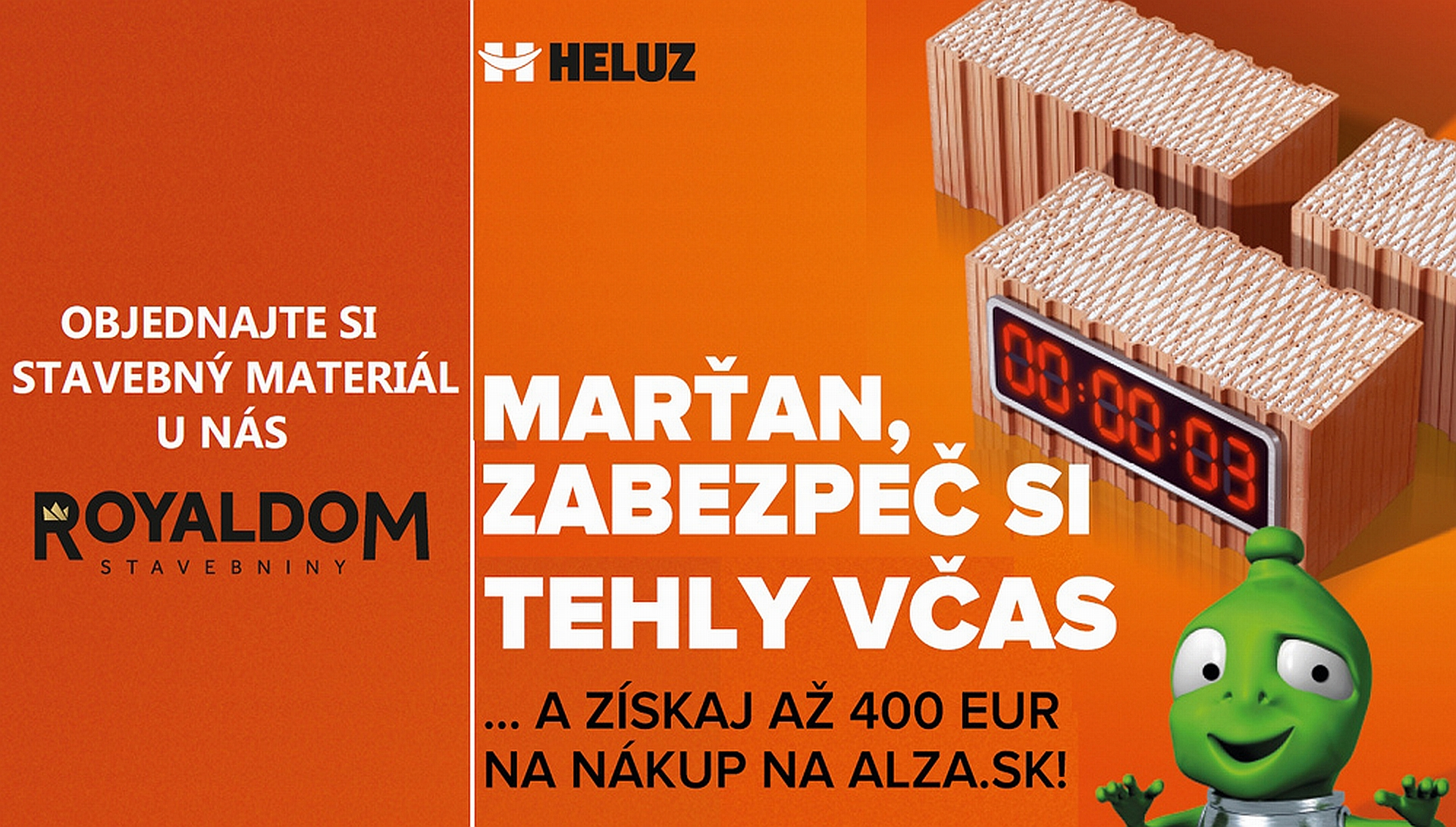 Tehly Heluz a k nim až 400 eur na nákup na Alza.sk