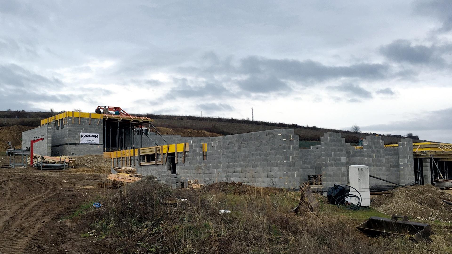 Výstavba Častkovce